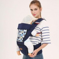 Baby carrier backpacks bag hip seat sling baby hipseat Soft Carriers wrap 360 basket for newborns multifunctional Blue