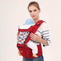 Baby carrier backpacks bag hip seat sling baby hipseat Soft Carriers wrap 360 basket for newborns multifunctional Red