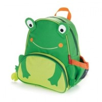 Animal Design School Bag Preschool Backpack for Kids Children - Green Froggie