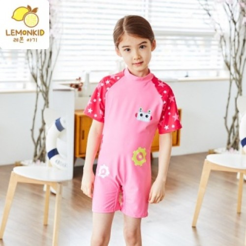 2837401ca88 Korea Kids One Piece Swimming Cartoon Swimmable Environmental Swimwear  Children Bikini Set Bathing Suit Swimsuit Beach Wear Baby Swimming Costume  Pink