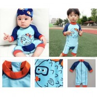 2017 fashion cute cartoon summer new spa baby boys swimsuit children kids boys sun protection swim wear
