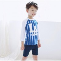 2017 hot sale fashion kids boys swimwear two piece baby children boys swimsuit sun protection spa swim wear