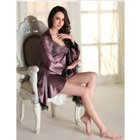 Babydoll Dress Sexy Lingerie Pajamas Nightwear ( Purple )