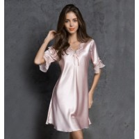 Babydoll Dress Sexy Lingerie Pajamas Nightwear (  Pink )