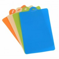4Pcs Plastic Non-slip Hang hole Cutting Board Food Slice