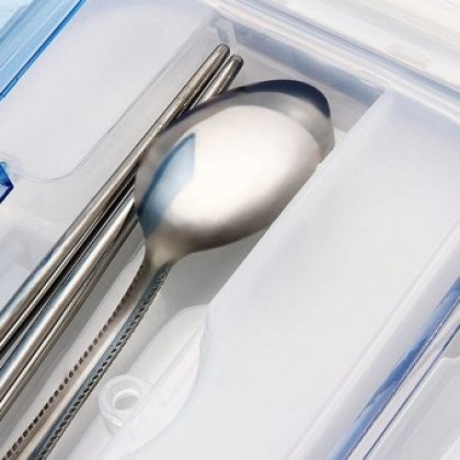 Food Container with Soup Bowl Chopsticks Spoon