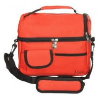 BBQ Camping Picnic Lunch  Cooler Cool ice bag  Red