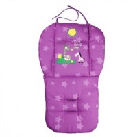 Baby Cotton  Double Sided Stroller Seat Pad Cushion Purple