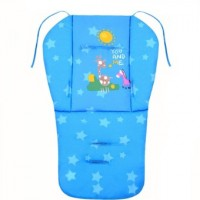 Baby Cotton Double Sided Stroller Seat Pad Cushion Blue