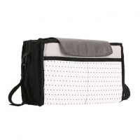 Diaper Bag Large Capacity Mummy Bag (Black+White+Gray)