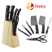8 sets of knives sets knife wood seat tool set stainless steel chopper