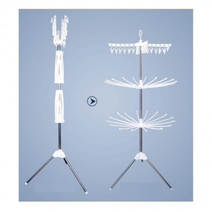 3 Tier Clothes Hanging And Drying Rack - White