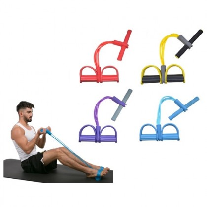 GYM Fitness Yoga Sit-up Equipment Pull Up Rope Elastic Band Sit Up Tool Pulling Band Pulling Tool Exercise Fitness