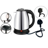 (Malaysia 3-Pin Plug) Zeppy Electric kettle 2L stainless steel double anti hot pot