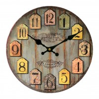 30CM Vintage European Style Wooden Wall Clock - Type 3