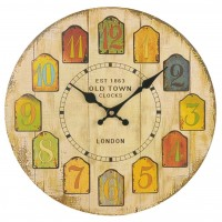 30CM Vintage European Style Wooden Wall Clock - Type 4