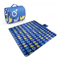 200 x 150 cm Foldable Picnic Mat Play Mat (Blue Apples)