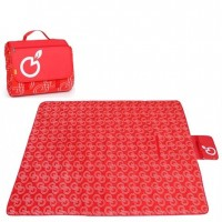 200 x 150cm Foldable Picnic Mat Play Mat (Design 1: Red)
