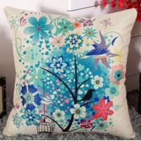 Decorative Sofa Pillow (filled / inserted)_Design 4_Birds and Flowers