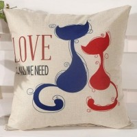 Cute Lovely Kittens Cushion Pillow (45 x 45 cm)