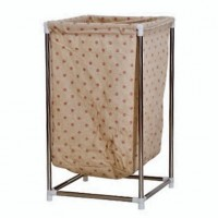 Fashionable Laundry Bin Storage Box with Stainless Steel Stand- Chrysanthemum