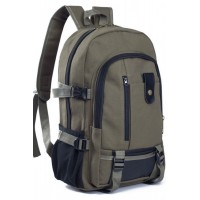Korean Fashion Canvas BackPack (Brown)
