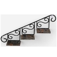 Classic Metal and Wood Wall Shelf