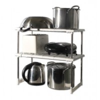 Expandable 2 Layers Stainless Steel Under the Sink Rack / Shelf