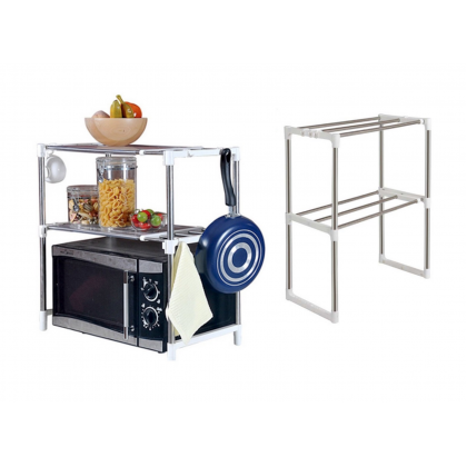 2 Layers Stainless Steel Oven Storage Rack Silver oven rack oven shelf