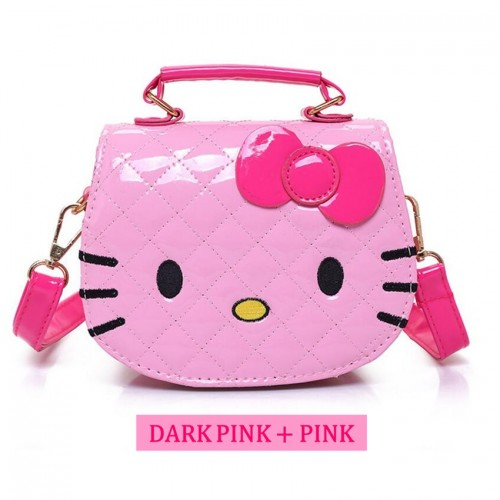 a431210c6f Girl Cartoon Design Cute Hello Kitty Quilt Handbag Tote Bag Sling Bag