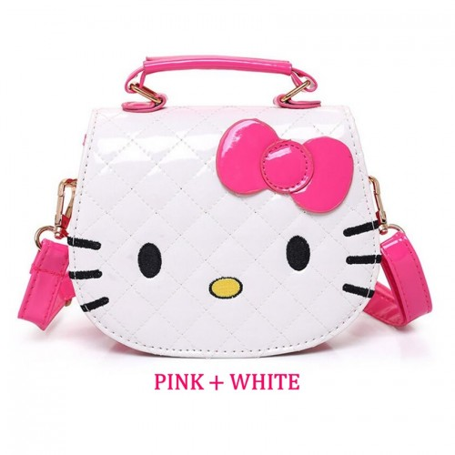 e41b0661bb Girl Cartoon Design Cute Hello Kitty Quilt Handbag Tote Bag Sling Bag