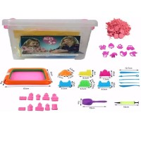 4 kg Pink Kinetic Sand Play Set 50 Accessories Beach Castle Building