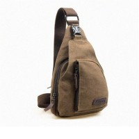 Fashi Cool Outdoor Sports Casual Canvas Unbalance Backpack Crossbody Sling Bag Shoulder Bag Chest