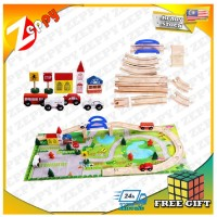 40 pcs rail overpass wooden toy play puzzle play set