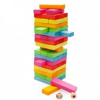 54 pieces Classic Tumble Tower Wood Jenga Tower Game