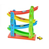 4-Layer Wooden Car Racing Track