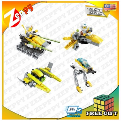 (Set of 4) 4 Boxes Advanced Military Block Toy Transformer Block