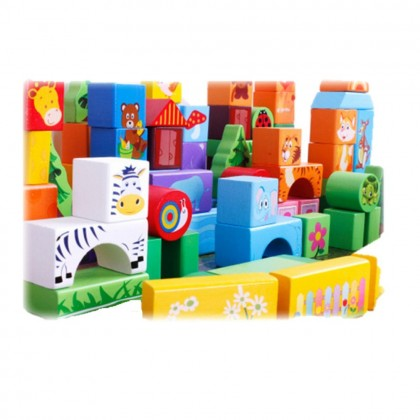 100 Pieces Safari Building Block Toy