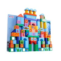 100 Pieces Ocean Building Block Toy, Fish and Alphabet
