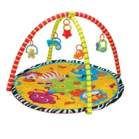 (Bigger 85 X 85)  Activity Play Gym and Play Crawling Blanket Mat- Zebra