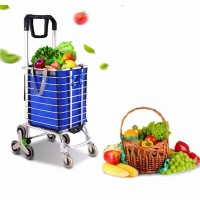 8 Wheels Foldable Shopping Grocery Trolley Shopping Car