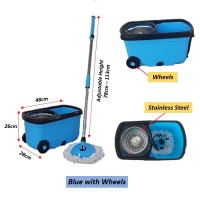Stainless Steel Spin Mop with Bucket Cleaning System