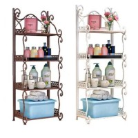 4 Layer Washroom & Bathroom Steel Machine Painted Organizer Rack