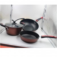 3 in 1 Multi-purpose Cookware Non-Stick Pan Pot Set (32cm Frying Pan, 24cm Wok, 24cm Soup Pot)