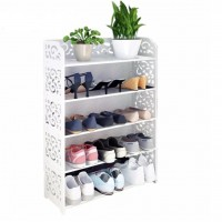 5 Tiers European Style Shoe Rack White