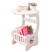 European Style Magazine Round End Side Coffee Table
