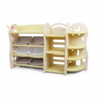 Multi-purpose books bookshelf plastic cabinet - Design C