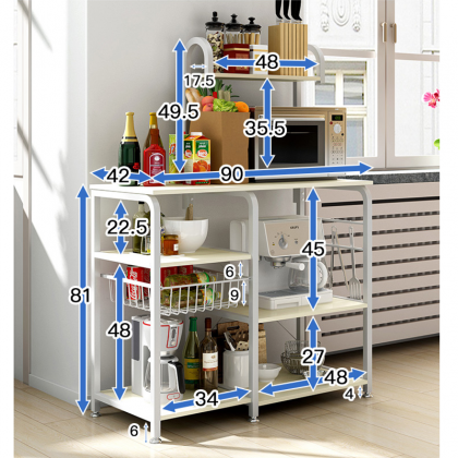Multipurpose Oven Microwave and kitchen Storage Rack Organiser