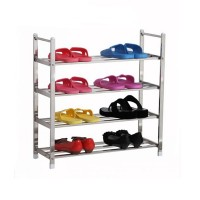 4 Tier Stainless Steel Multi-Layer Shoes Rack