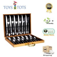 Grand 24 pcs Stainless Steel Cutlery Set for 6 Person Tableware in Gift Box